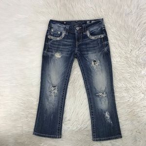Miss Me Women Jeans Cropped Buckle 26 X 27 S12